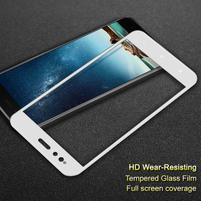 Celoplošné tvrzené sklo na mobil Xiaomi Mi A1 - bílý lem