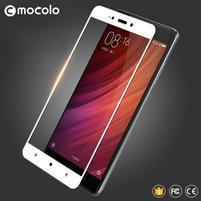 MLC celoplošné trvzené sklo na Xiaomi Redmi Note 4 - bílý lem