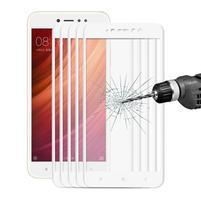 Celoplošné ochranné tvrzené sklo na Xiaomi Redmi Note 5A - bílé
