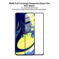 IMK celoplošné tvrzené sklo na mobil Samsung Galaxy A80/A90 - černý lem