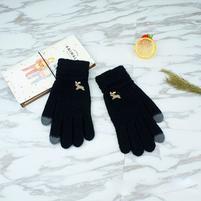Full dotykové rukavice všemi prsty - černé
