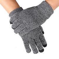 No5 rukavice na dotykové displeje - šedé
