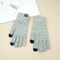 Full pánské dotykové rukavice na mobil/tablet všemi prsty - šedé