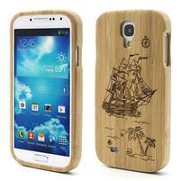 Dřevené pouzdro rozepínací na Samsung Galaxy S4 - loď