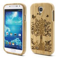 Dřevené pouzdro rozepínací na Samsung Galaxy S4 - stromeček