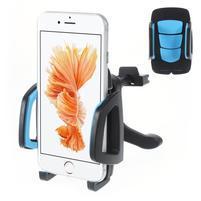 Univerzální autodržák do větráčku pro mobilní telefony - modrý