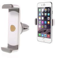 Větráčkový držák do auta pro mobilní telefony - bílý