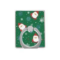 Santa vánoční držáček na prst na mobilní telefony - zelený