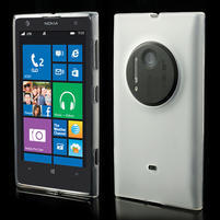 Gelové matné pouzdro pro Nokia Lumia 1020- bílé
