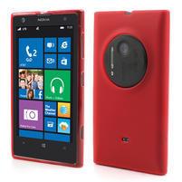 Gelové matné pouzdro pro Nokia Lumia 1020- červené