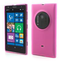 Gelové matné pouzdro pro Nokia Lumia 1020- růžové