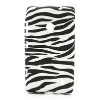 Gelové pouzdro na Nokia Lumia 520- zebra