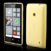 Gelové matné pouzdro na Nokia Lumia 520 - bílé