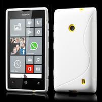 Gelové S-line pouzdro na Nokia Lumia 520- bílé