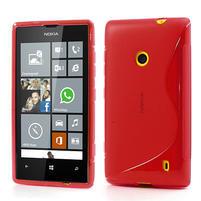Gelové S-line pouzdro na Nokia Lumia 520- červené