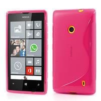 Gelové S-line pouzdro na Nokia Lumia 520- růžové