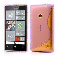 Gelové S-line pouzdro na Nokia Lumia 520- fialové