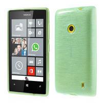 Gelové kartáčové pouzdro na Nokia Lumia 520- zelenomodré