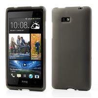 Gelové matné pouzdro pro HTC Desire 600- šedé