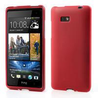 Gelové matné pouzdro pro HTC Desire 600- červené