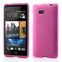 Gelové matné pouzdro pro HTC Desire 600- růžové