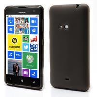 Gelové matné pouzdro pro Nokia Lumia 625- šedé