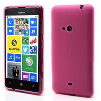 Gelové matné pouzdro pro Nokia Lumia 625- růžové
