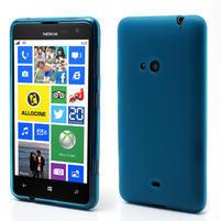 Gelové matné pouzdro pro Nokia Lumia 625- světlemodré