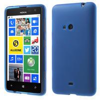 Gelové matné pouzdro pro Nokia Lumia 625- modré