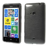 Gelové kartáčové pouzdro na Nokia Lumia 625 - šedé