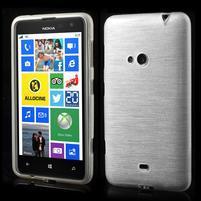 Gelové kartáčové pouzdro na Nokia Lumia 625 - bílé