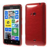 Gelové kartáčové pouzdro na Nokia Lumia 625 - červené