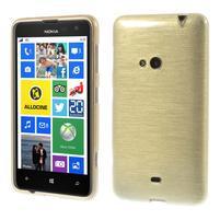 Gelové kartáčové pouzdro na Nokia Lumia 625 - zlaté