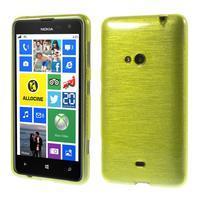 Gelové kartáčové pouzdro na Nokia Lumia 625 - zelené
