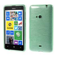 Gelové kartáčové pouzdro na Nokia Lumia 625 - cyan
