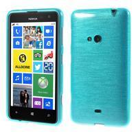 Gelové kartáčové pouzdro na Nokia Lumia 625 - modré