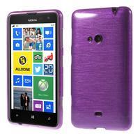 Gelové kartáčové pouzdro na Nokia Lumia 625 - fialové