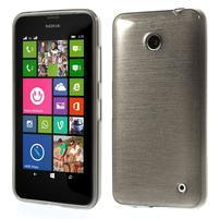 Gelové Kartáčové pouzdro na Nokia Lumia 630- šedé