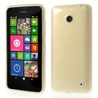 Gelové Kartáčové pouzdro na Nokia Lumia 630- zlatavé