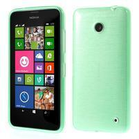 Gelové Kartáčové pouzdro na Nokia Lumia 630- zelenomodré