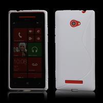 Gélové S-line puzdro pre HTC Windows phone 8X- biele