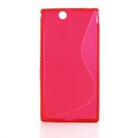 Gélové S-line puzdro pre Sony Xperia Z ultra- červené