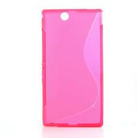 Gélové S-line puzdro pre Sony Xperia Z ultra- ružové