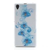 Gelové pouzdro na Sony Xperia Z1 C6903 L39- modrá lilie