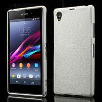 Kartáčované pouzdro na Sony Xperia Z1 C6903 L39- bílé