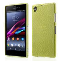 Kartáčované pouzdro na Sony Xperia Z1 C6903 L39- zelené
