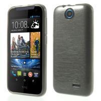 Gelové kartáčované pouzdro na HTC Desire 310- šedé