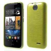 Gelové kartáčované pouzdro na HTC Desire 310- zelené