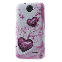 Gelové pouzdro na HTC Desire 310- dvě srdce