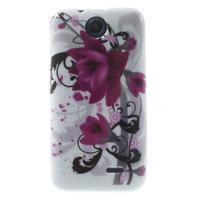 Gelové pouzdro na HTC Desire 310- fialový květ